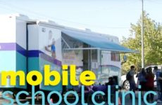 Mobile Health Clinic visits school in Sacramento.