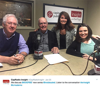 Larry Miles, Richard Launey, Beth Ruyak, and Christina Salerno at Capital Public Radio