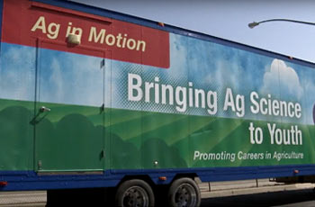 Mobile Agriculture truck classroom.