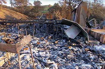 School after fire
