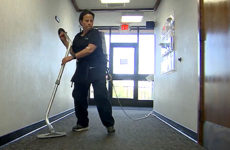 custodian at career technical education, mary montes