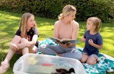 Jennifer Siebel Newsom with her children