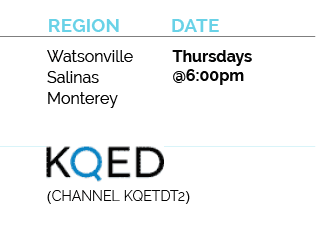 watsonville, salinas, monterey, air date for inside california education for channel kqetdt2 is thursdays at 6pm