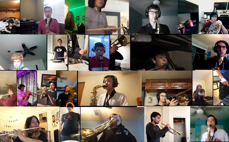 music students perform a virtual concert