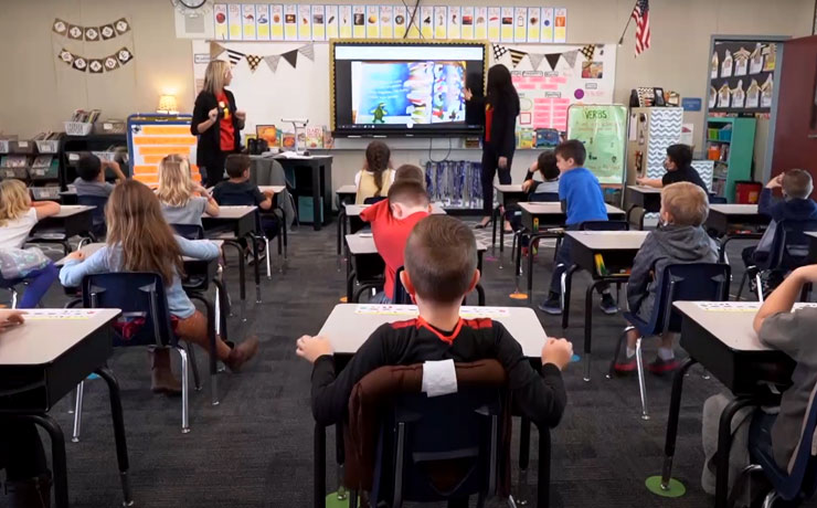 teachers and students in classroom